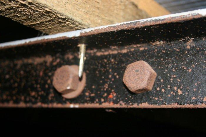 Rolled steel beams post war bisf house