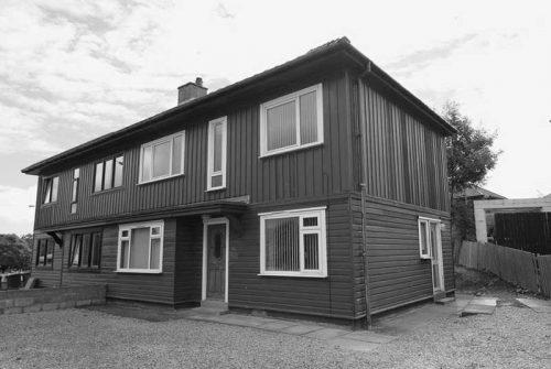 1940s solid cedar house