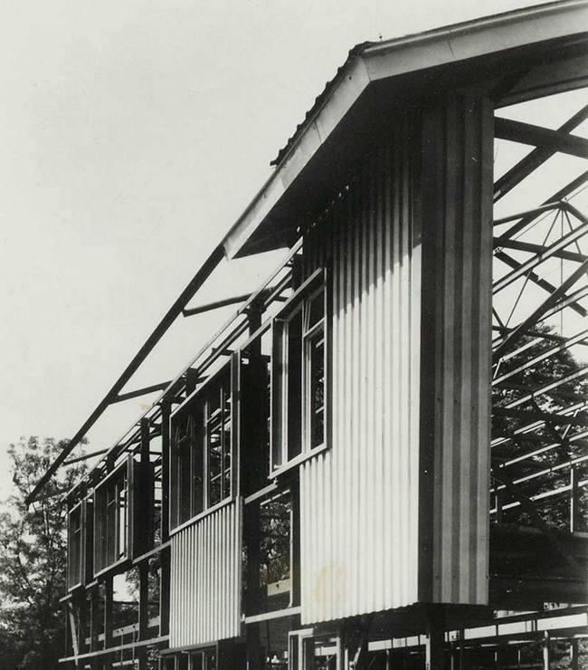 Original steel framed bisf house under construction circa 1945 northolt
