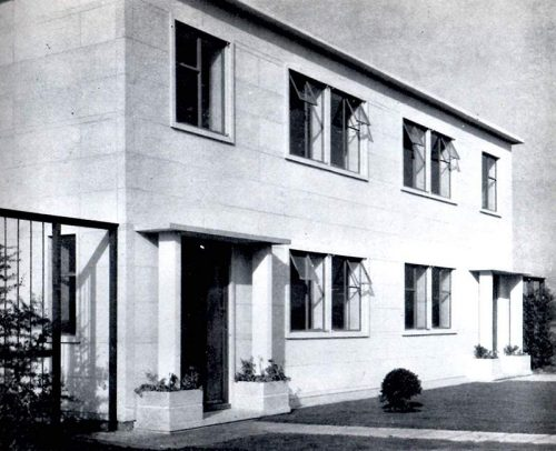 Photograph of original orlit house at colnbrook
