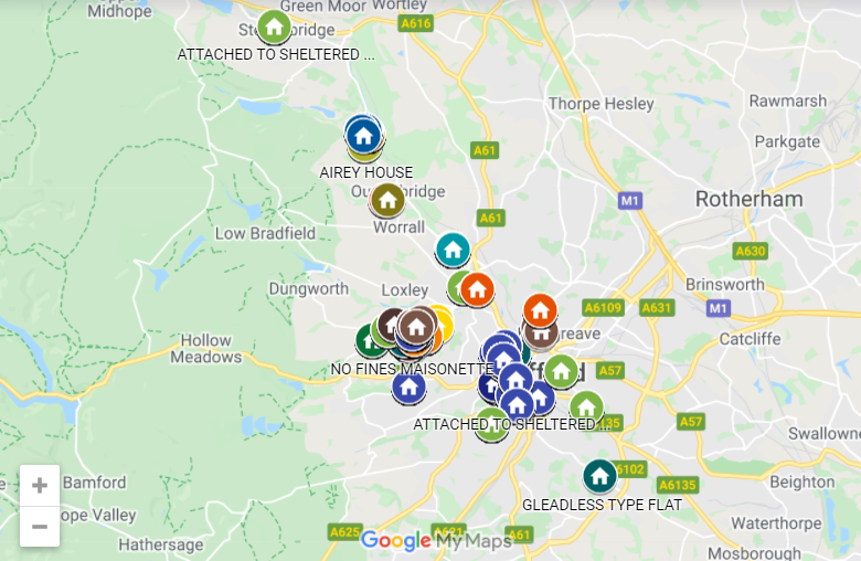 Sheffield City Council Non-Trads Map