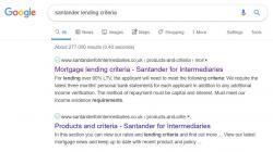 santander lending criteria